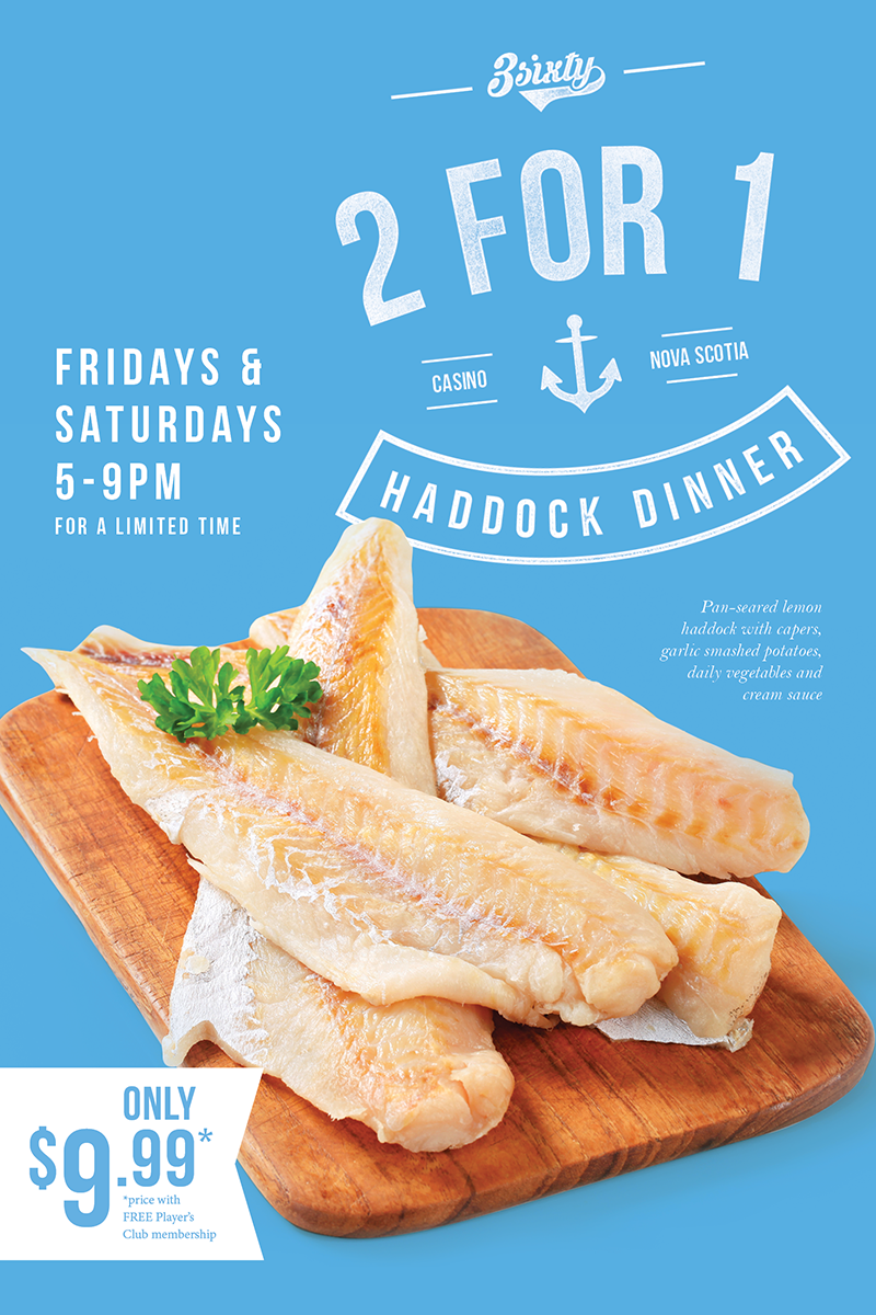 2 For 1 Haddock Dining Special