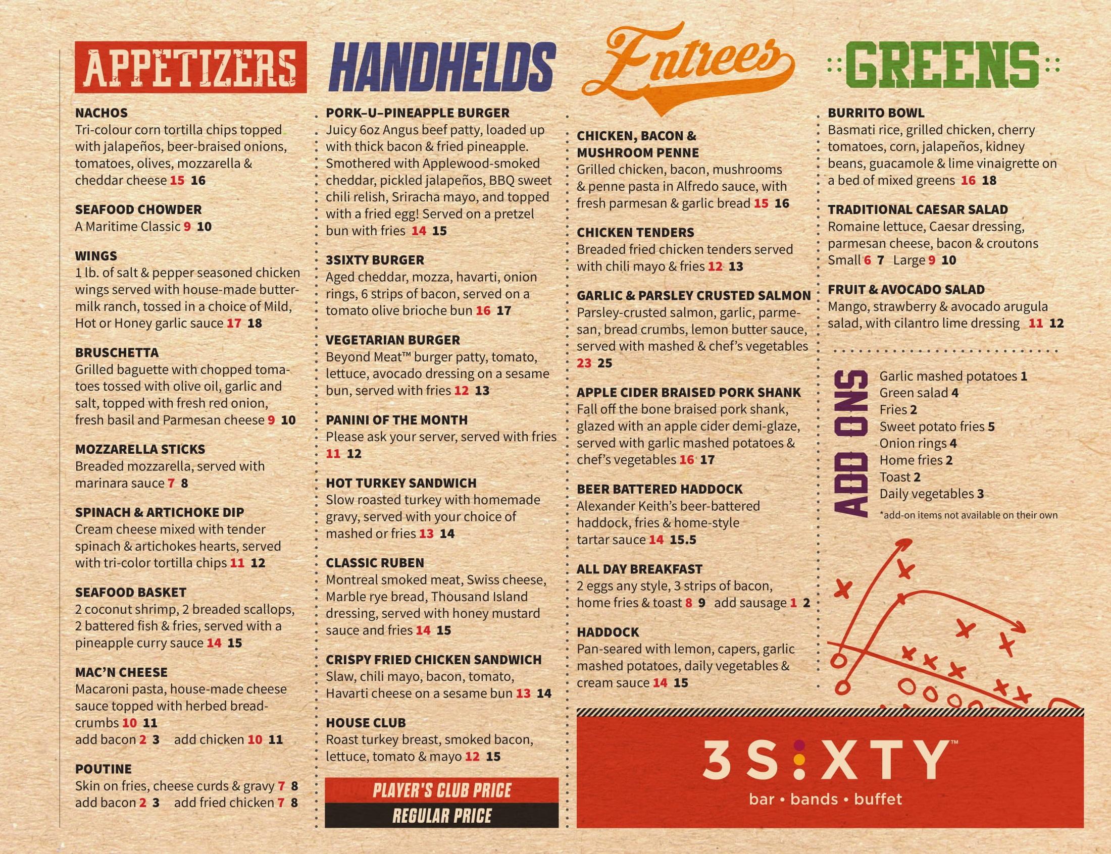 casino nova scotia sydney buffet menu